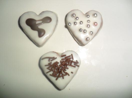 ricoperti con cioccolato bianco