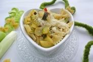farfalle con zucchine e porri