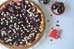 cheescake con ciliegie e cioccolato bianco